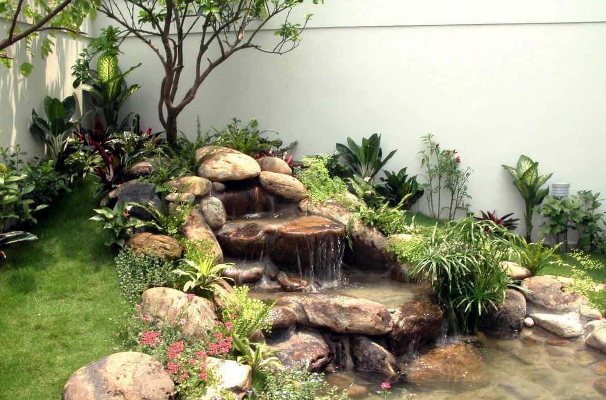 Tiểu cảnh sân vườn đơn giản