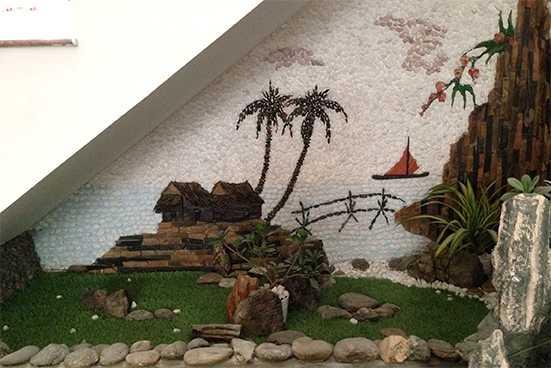 Tranh đá ốp tường phòng khách