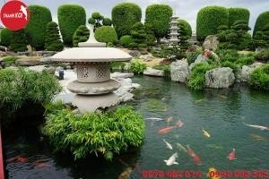 Hồ cá Koi sân vườn, ho ca koi san vuon
