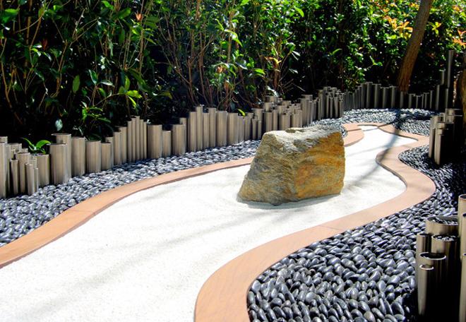 Nghệ thuật làm đẹp sân vườn với đá cuội, nghe thuat lam dep san vuon voi da cuoi