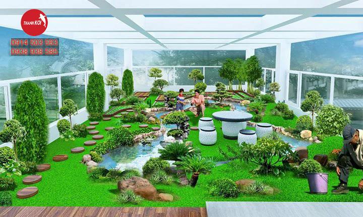 Tiểu cảnh sân vườn quận 7, thiết kế hồ cá koi nhật bản tỉnh Bà Rịa Vũng Tàu