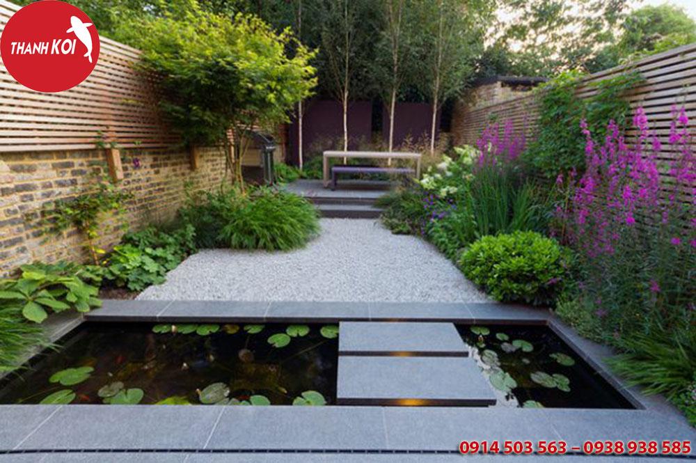 Cảnh sân vườn trong không gian cuộc sống, canh san vuon trong khong giac cuoc song