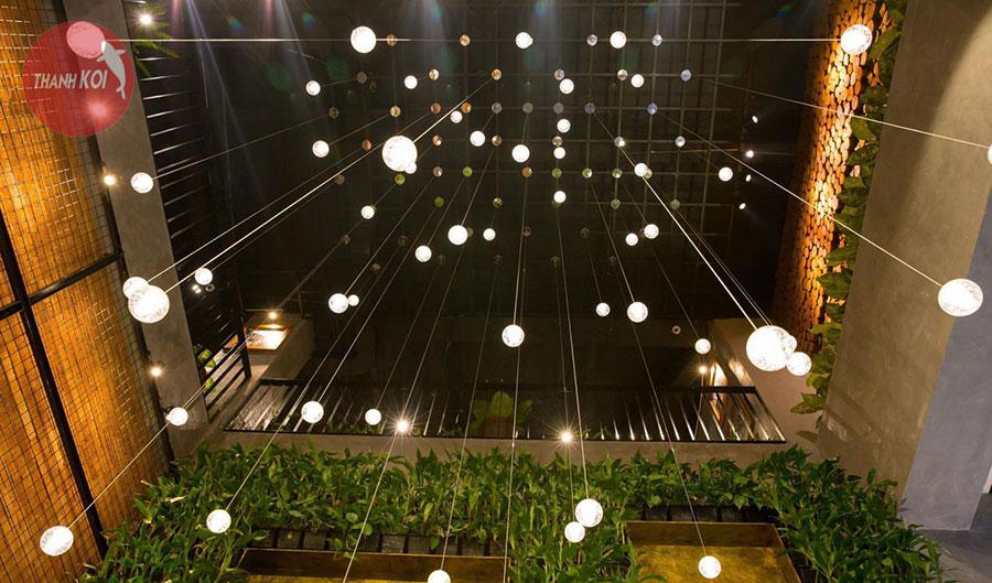 Vườn thẳng đứng trong một nhà hàng