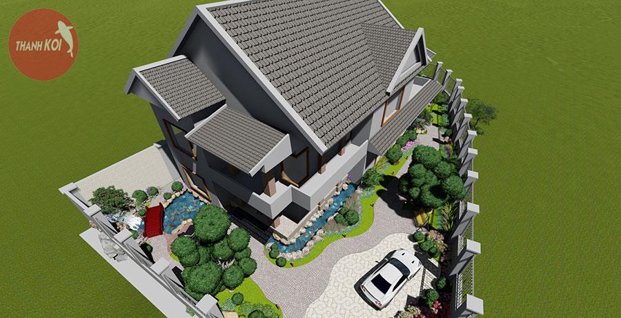 Thiết kế và thi công sân vườn biệt thự