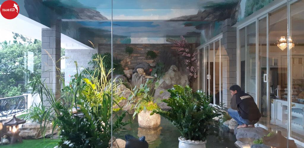 Kinh nghiệm thiết kế hồ cá koi trong phòng khách bạn nên biết