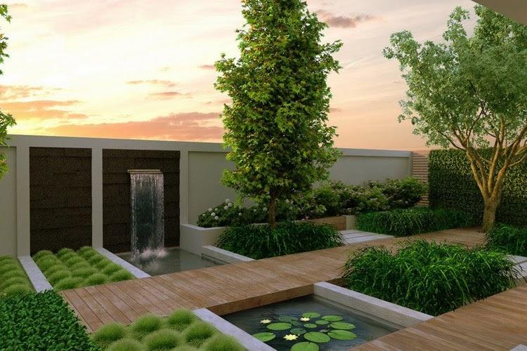 Thiết kế sân vườn cho những ngôi nhà hiện đại