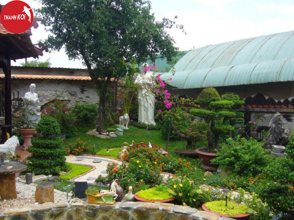 Hướng dẫn cách làm tiểu cảnh sân vườn với đá tự nhiên đẹp